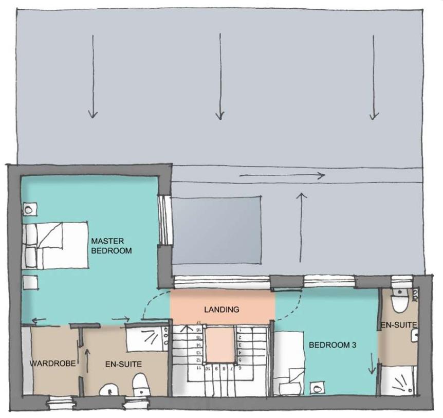 Potton Passivhaus first floor