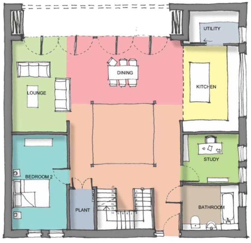 Potton Passivhaus ground floor