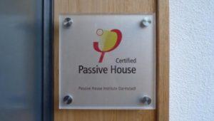 Passivhaus Certification Plaque