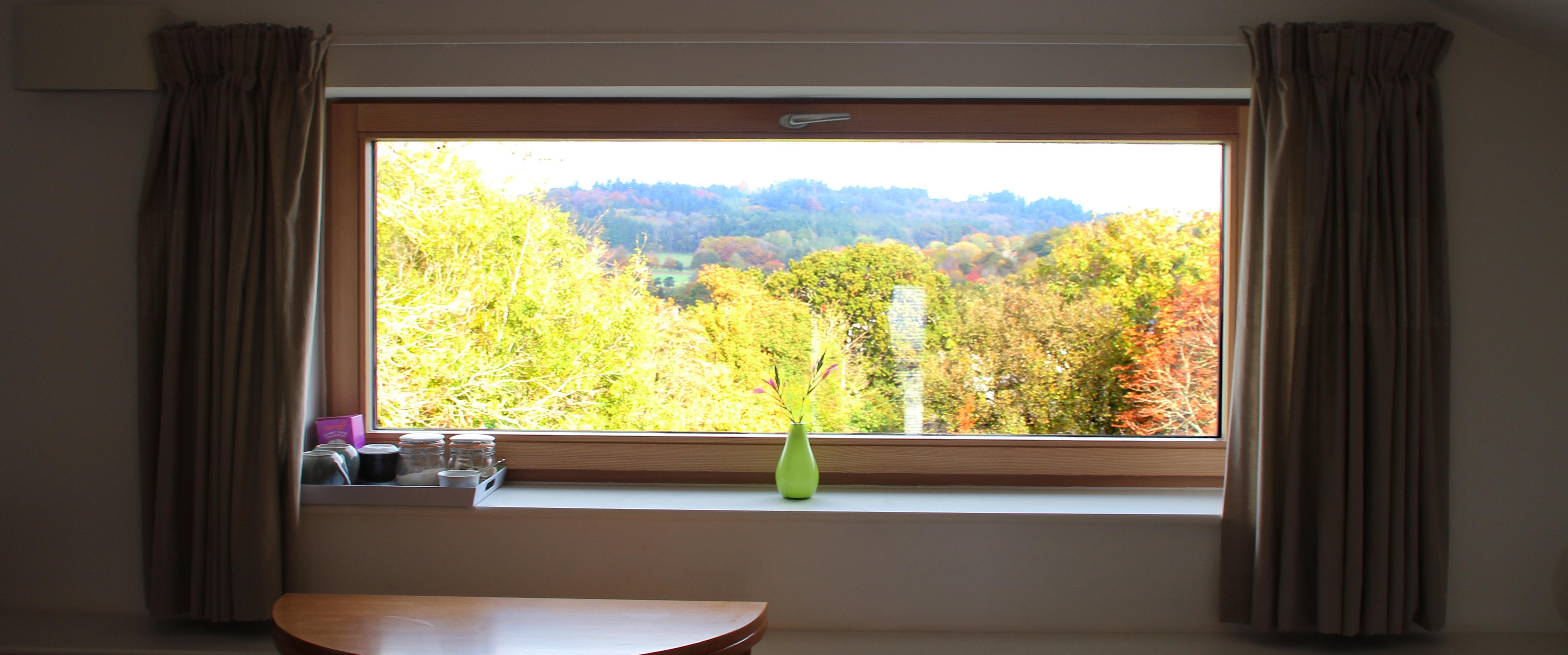 Totnes Passivhaus: autumnal views