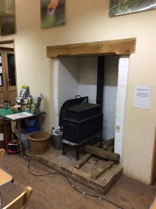 Bradfield Woods Education Centre: central stove