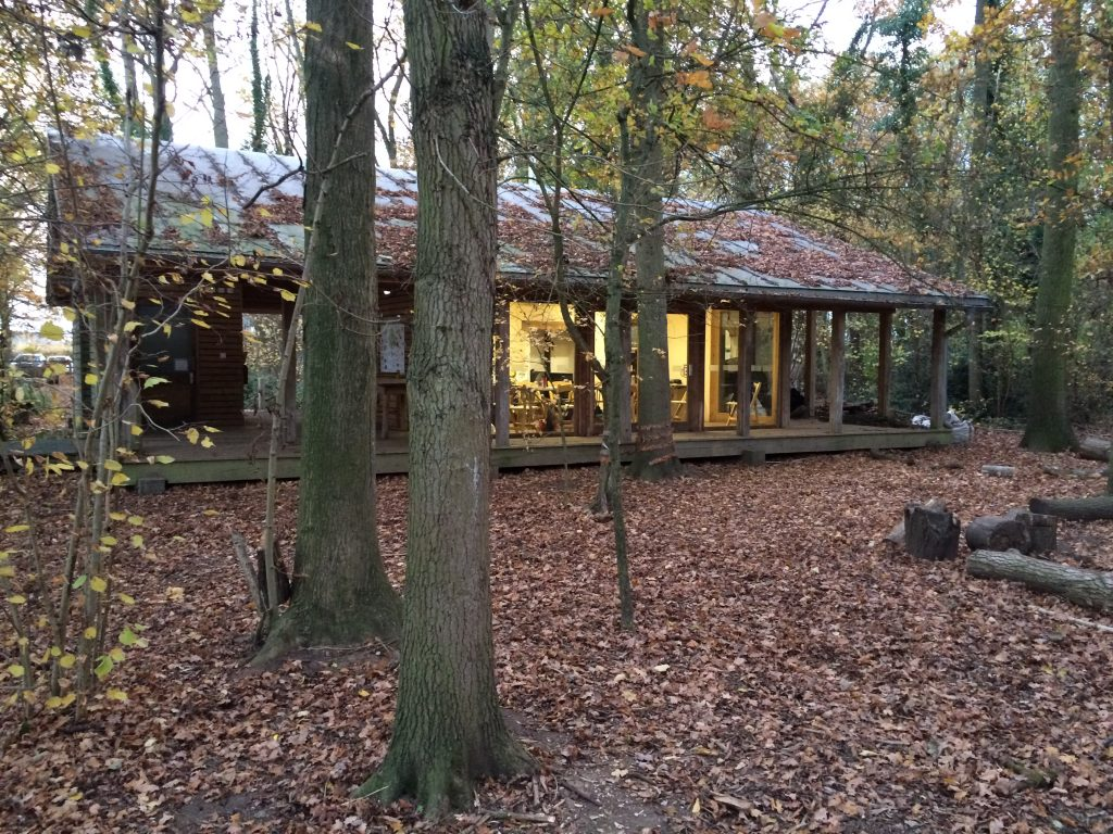 Bradfield Woods Education Centre: blending into the woods