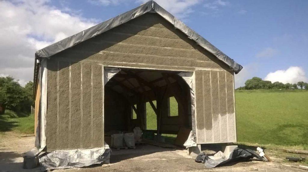 Hempcrete Newbuild Barn in Dorset